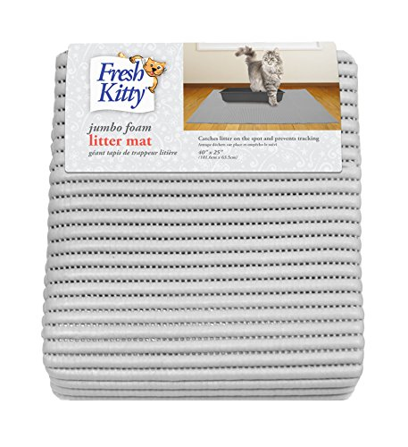 Fresh Kitty Durable XL Jumbo Foam Litter Mat – Phthalate and BPA Free, Water Resistant, Traps Litter from Box, Scatter…