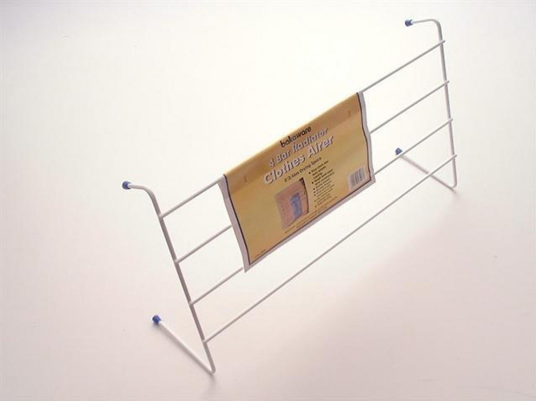 Smart 4 Bar Radiator Clothes Airer - 2.4m Drying Space - FREE UK Mainland Delivery A-12