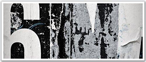 JP London PAN5290 uStrip Black and White Newsprint Deco Six High Resolution Peel Stick Removable Wallpaper Sticker Mural, 48