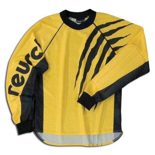 (Reusch Adult Raptor Long Sleeve GK Jersey, Yellow/Black, Small)