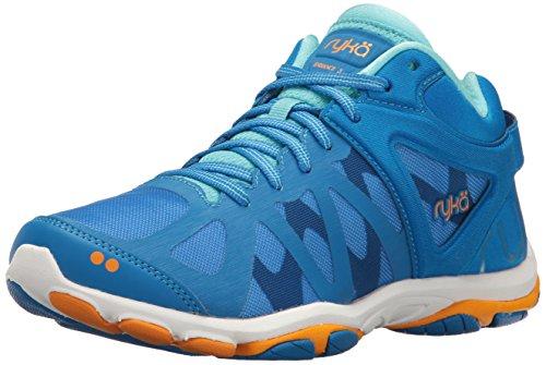 Ryka Women's Enhance 3 Cross-Trainer Shoe, Blue/Orange, 8.5 M US