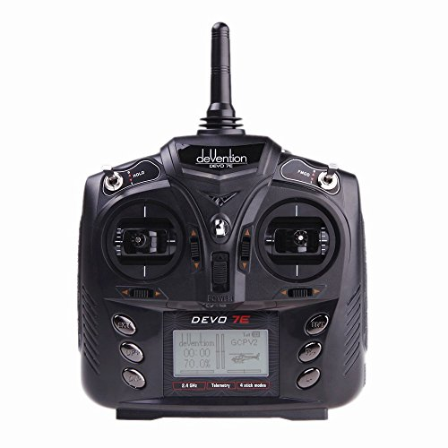 Walkera Devention DEVO 7E 2.4GHz 7CH DSSS Radio Control Transmitter for RC Helicopter Airplane Model 2 by Walkera
