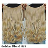 "Secret Halo Hair Extensions Flip in Curly Wavy Hair Extension Synthetic Women Hairpieces 20"" (Golden Blonde #25)"