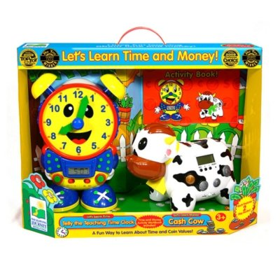 Let's Learn Time and Money Teaching Time Clock and Cash Cow by Learning Journey