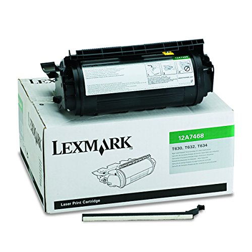 - Lexmark 12A7468 High-Yield Toner, 21000 Page-Yield, Black