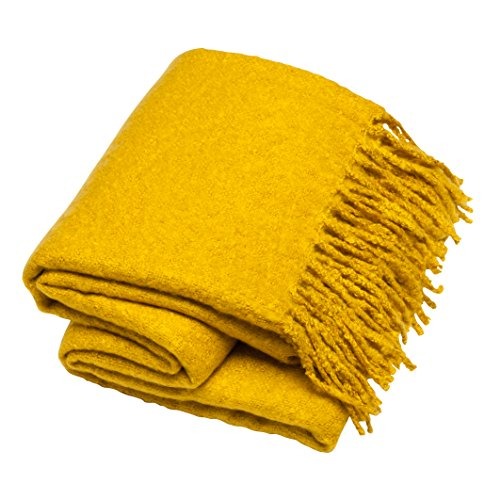 Sova Faux Mohair Brushed Throw Blanket (50