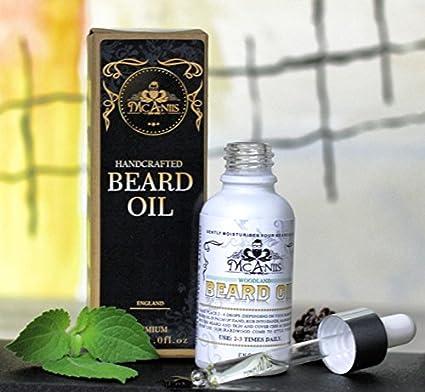 Mcaniis Premium - Aceite de barba natural y puro alcohol libre de parabenos sin fragancia artificial