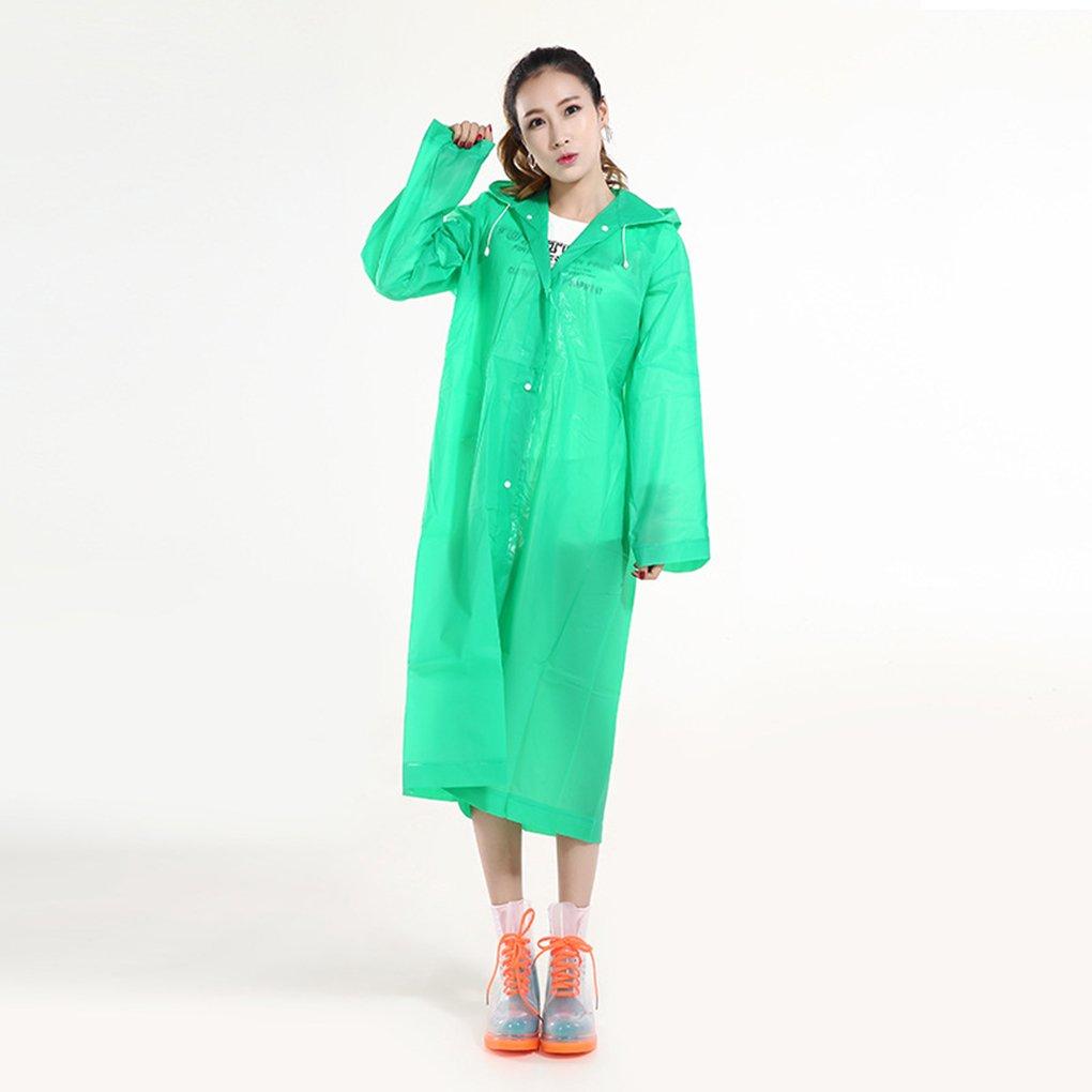 BoburyPortable Réutilisable Hommes Femmes d'urgence Abri Raincoat Canopy Imperméable Randonnée extérieure Pluie Camping Couverture Poncho vert