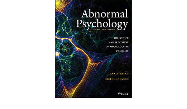 Abnormal Psychology 14th Edition Pdf