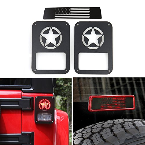 RT-TCZ Tail Light Guards Covers Brake Light Cover for Rear Taillights 2007-2017 Jeep Wrangler JK Unlimited Accessories