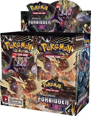 Pokémon TCG Sun & Moon Forbidden Light Booster Box + XY Steam Siege Booster Box Pokémon Trading Cards Game Bundle, 1 of Each