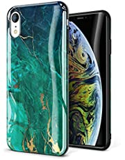 GVIEWIN Marble iPhone XR Case, Ultra Slim Thin Glossy Soft TPU Rubber Gel Silicone Phone Case Cover Compatible iPhone XR 2018 6.1""