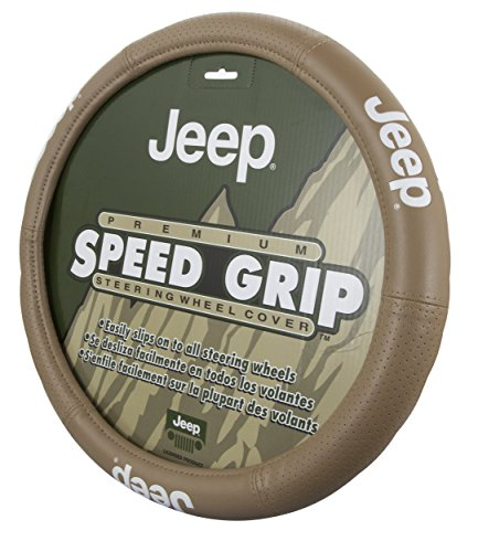 Plasticolor 006729R06 Steering Wheel Cover (Jeep Elite Tan)