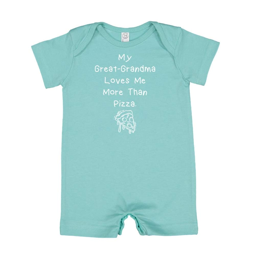 Baby Romper My Great-Grandma Loves Me More Than Pizza