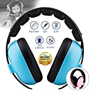 Baby Noise Cancelling HeadPhones, Baby Earmuffs, Baby Headphones, Baby Ear Protection, Baby headphones noise reduction, Blue
