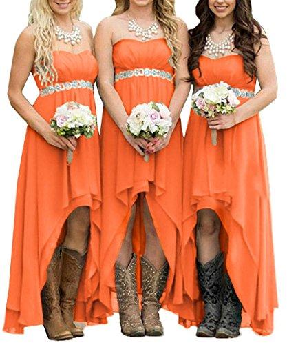 orange formal dresses for juniors - 7