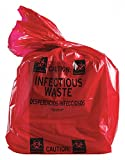 35 to 55 gal. Black/Orange Biohazard Bags, Contractor Strength Rating, Bag, 100 PK