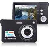 Digital Camera, Lyyes 2.7 Mini Camera HD 720P Digital Point Shoot Camera Camcorder 8X Zoom Camera for Kids and Gifts (Black)