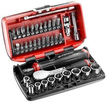 Facom Nano R.181NANOPB - Estuche de trinquete y llaves de vaso de 1/4 pulgadas (6 caras): Amazon.es: Bricolaje y herramientas