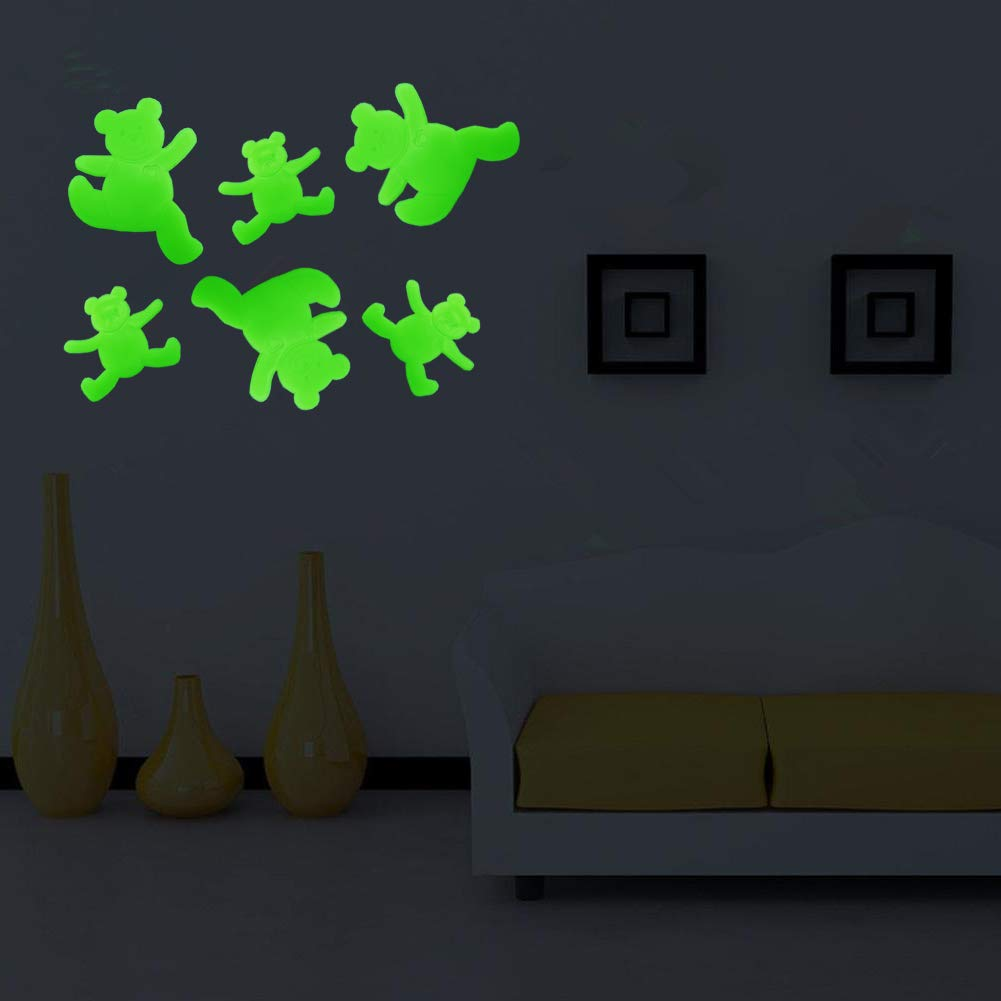 Ant+Bear+Gecko+Zodiac Animals 38 pcs 3D Luminous Animals Wall Stickers for Bedroom//Living Room Decoration//Kids Room//Home Decor Glow in The Dark Stars Fluorescent Wall D/écor Stickers