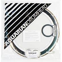 Aquarian Drumheads SKP22WH Super-Kick 1 Prepack 22-inch Bass Drum Head, gloss white