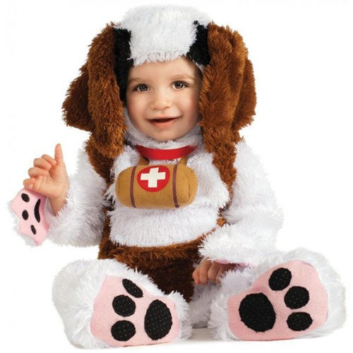 [Infant Puppy Costume - St Bernard Costume (12-18 months with Bracelet for Mom)] (St Bernard Baby Costumes)