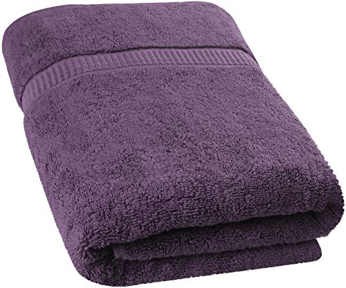Utopia Towels – Soft Cotton Machine Washable Extra Large Bath Towel (35-Inch-by-70-Inch) – Luxury Bath Sheet (Plum, 14)