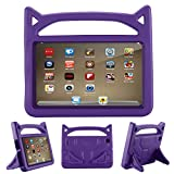 Office Products : All-New Fire 7 2017 Case,Riaour Kids Shock Proof Protective Cover Case for Amazon Fire 7 Tablet (Compatible with 5th Generation 2015/7th Generation 2017) (Grape Purple)