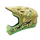 7iDP M1 Helmet, Matt Green Camo/Flo Lime, Large