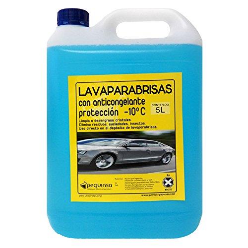 PEQUINSA Liquido Limpiaparabrisas, antimosquitos con anticongelante. Envase 5 litros. PREPARADOS QUIMICOS DE NAVARRA