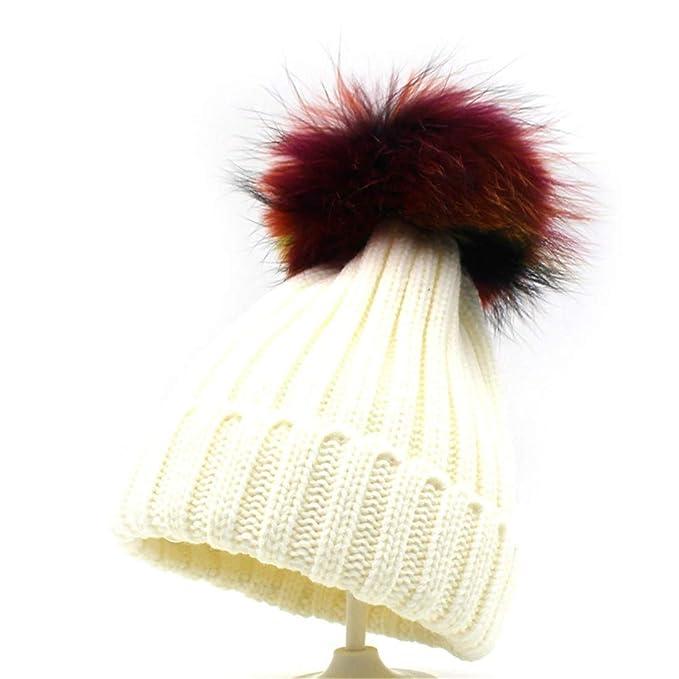 Sombreros Gorros de Punto Gorra con Capucha Gorra de Punto cálida de  Invierno Orejeras frías 60df5473424