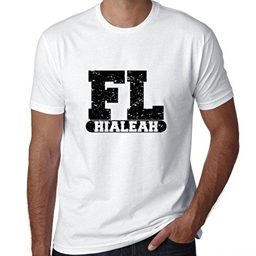 Hollywood Thread Hialeah, Florida FL Classic City State Sign Men's T-Shirt