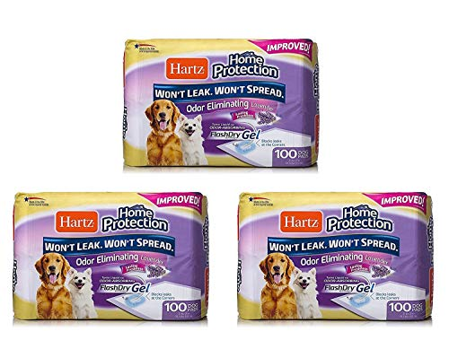 Hartz Home Protection Lavender Scent Odor Eliminating Gel Dog Pads - 300 Count