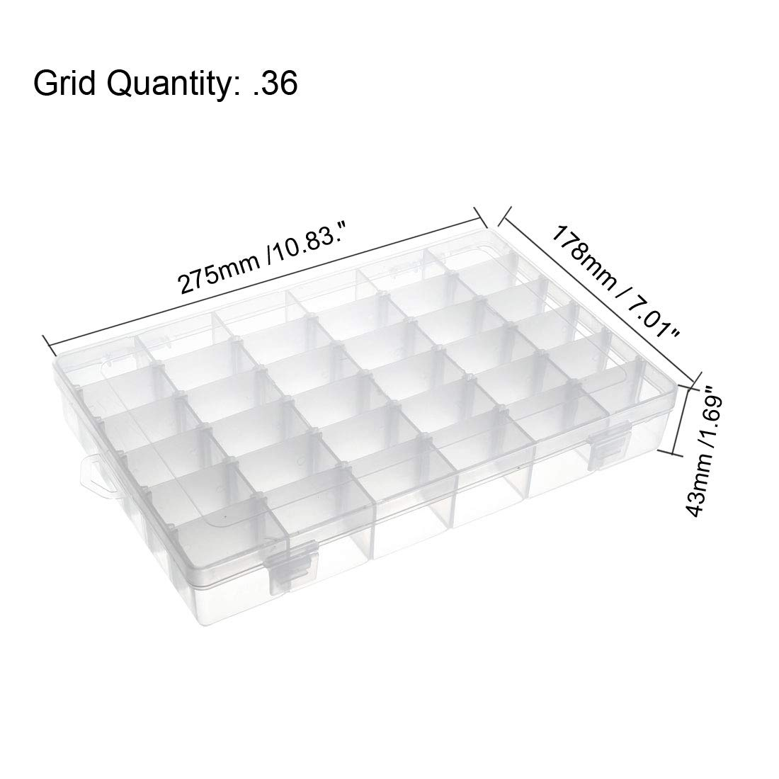 PP Fixed 6 Grids Electronic Component Containers Tool Boxes Clear White 120x80x23mm uxcell/® Component Storage Box