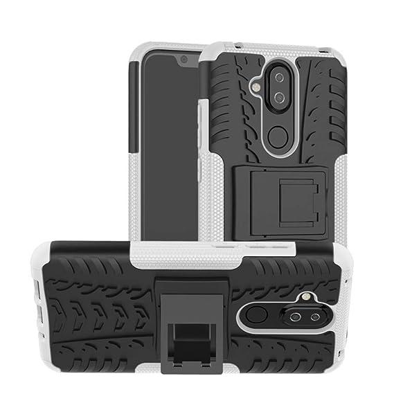 buy popular 5b689 9bd5a Amazon.com: Case for Nokia 7.1 Plus DWaybox Hybrid Rugged Heavy Duty ...