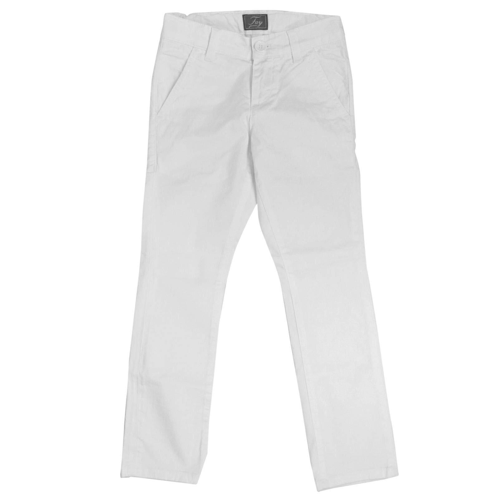 fay Boys Nui8038732tqpsb001 White Cotton Pants