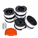 STYDDI Line String Trimmer Replacement Spool for BLACK+DECKER String Trimmers, 30ft 0.065'' Grass Trimmer/Edger Spool Line, Replacement Autofeed Spool [6 Replacement Line Spool, 1 Trimmer Cap, 1 Spring