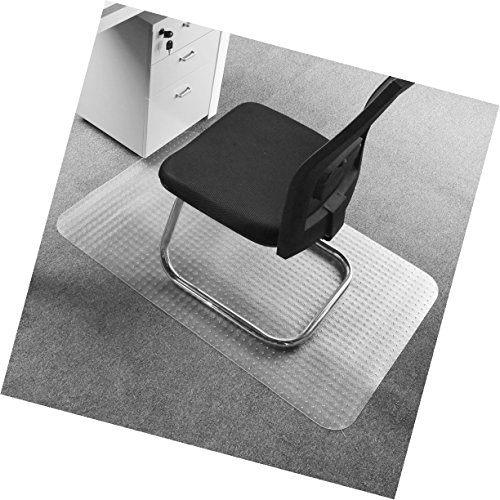 Office Premium Chair Mat 35''x47'' Carpet Protection Mat Heavy Duty High & medium Pile,Studded,Clear Retangle Shaped by Tikteck