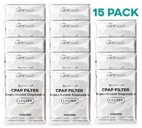 Care Touch 15 Individually Wrapped CPAP Filters for ResMed AirSense S9 & 10 Series, AirCurve Series, AirStart Series