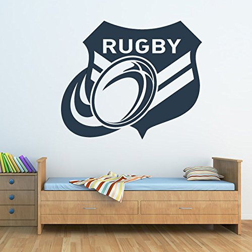 azutura Rugby Badge Wall Sticker Rugby Ball Wall Decal Boys Sports Home Decor available in 5 Sizes and 25 Colours Small Burgundy