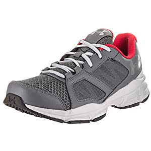 Under Armour Zone 2 Sneaker - gray w red