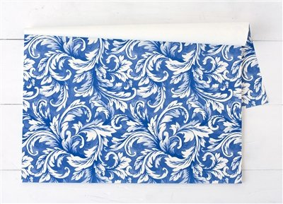 (Hester and Cook China Blue Acanthus Paper Placemat - Pad of 24)