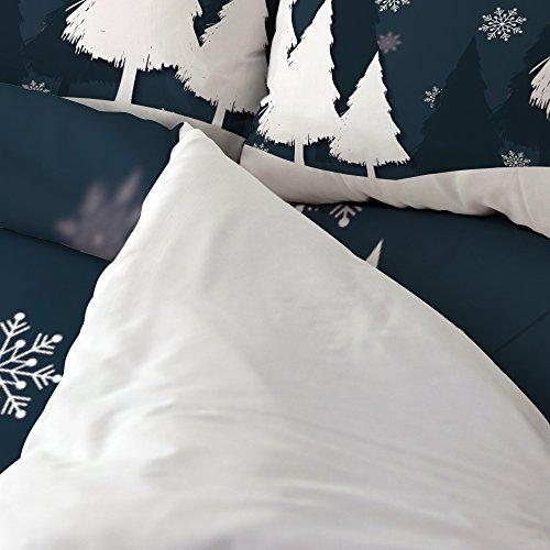 cheap libaoge 4 piece bed sheets set christmas theme winter trees
