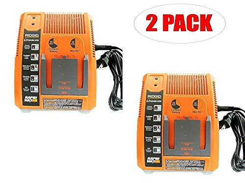 Ridgid R840091 Lithium Ion 9.6v- 18v Battery Charger (2-PACK) # 140154001-2PK