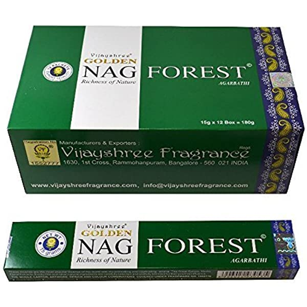 12 cajas de incienso Golden Nag Forest,180 varillas el pack ...