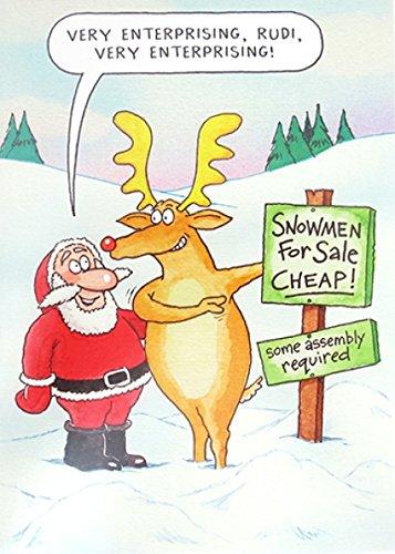 Immagini Natale Umoristiche.Umoristico Auguri Di Natale Plk4203 Molto Enterprising Pupazzo
