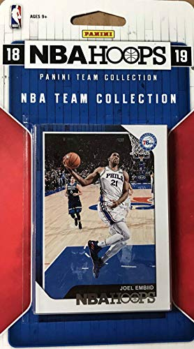 Philadelphia 76ers 2018 2019 Hoops Basketball Factory Sealed 12 Card Team Set with Joel Embiid, Ben Simmons, Landry Shamet Rookie Plus