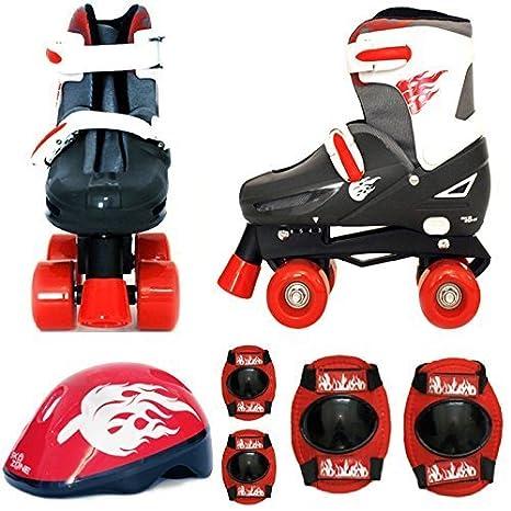 Sk8 Zone - juego de patines de cuatro ruedas para niños con patines de