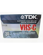 TDK VHS-C30 Blank Camcorder Superior High Grade Tape