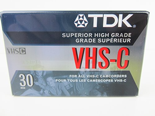 Price comparison product image TDK VHS-C30 Blank Camcorder Superior High Grade Tape